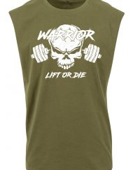 t-shirt sans manche warrior lift or die - tshirt sleeveless powerlifting