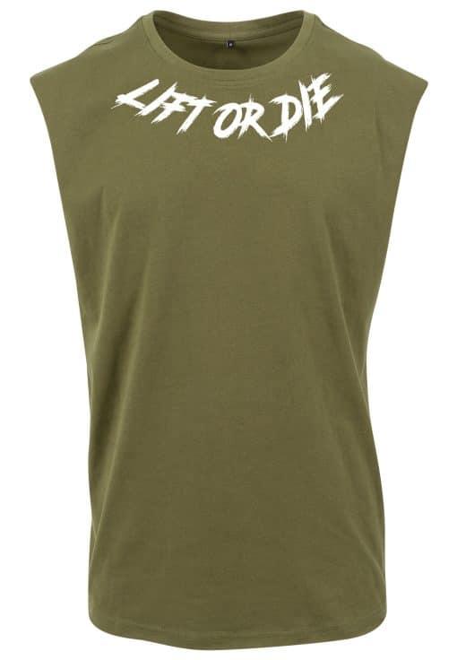 tshirt sans manche musculation lift or die - tshirt sans manche bodybuilding