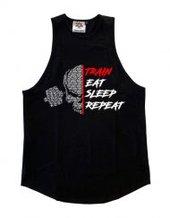 debardeur stringer train eat sleep repeat