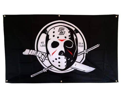 drapeau homegym musculation - poster bodybuilding hardcore - poster warrior gear