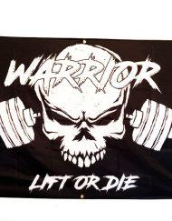 drapeau homegym warrior gear - drapeau bodybuilding chambre - poster musculation