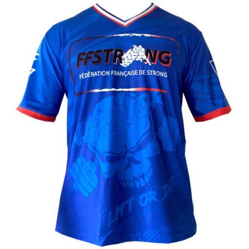 tshirt federation francaise strongman