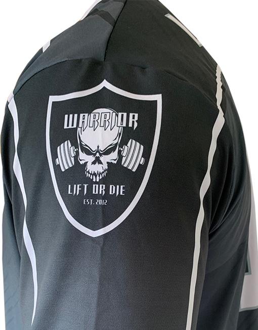 maillot foot us warrior gear noir
